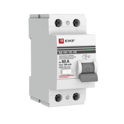 Устройство защитного отключения EKF elcb-2-80-100S-em-pro