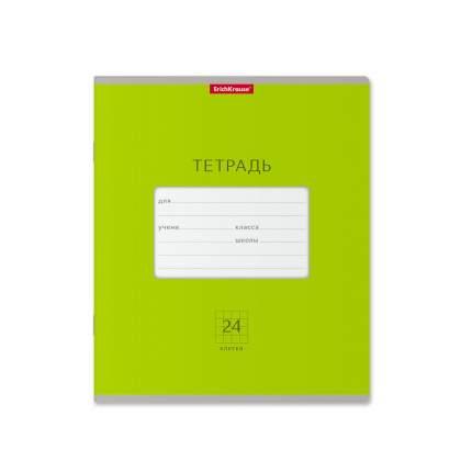 Тетрадь школьная ErichKrause Классика Bright зеленая, 24 листа, клетка 1 шт