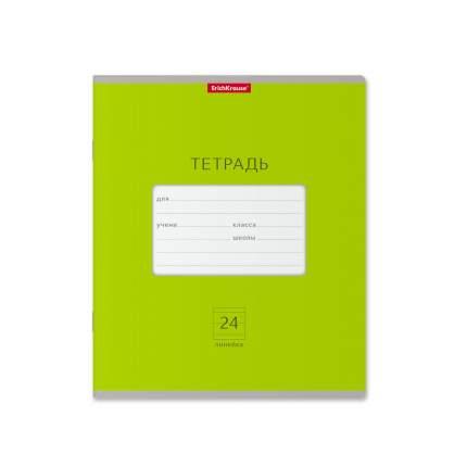 Тетрадь школьная ErichKrause Классика Bright зеленая, 24 листа, линейка