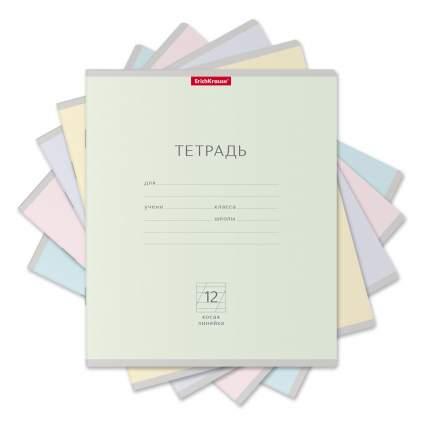 Тетрадь школьная ученическая ErichKrause Классика Light ассорти, 12 листов, косая линейка
