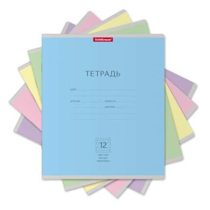 Тетрадь школьная ученическая ErichKrause Классика ассорти, 12 листов, частая косая линейка