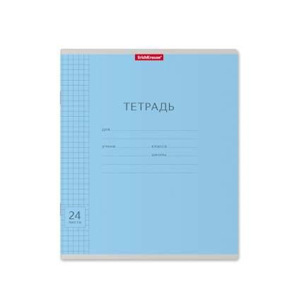 Тетрадь школьная ErichKrause Классика с линовкой голубая, 24 листа, клетка