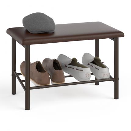 Обувница Delice Самба металл коричневый сиденье шоколад