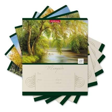 Тетрадь школьная ученическая ErichKrause Лесное озеро, 18 листов, клетка (в плёнке по 10 ш