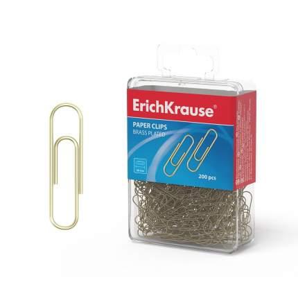 Скрепки металлические омедненные ErichKrause, 28мм (пластиковая коробка 200 шт.)