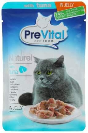 Влажный корм для кошек PreVital Naturel, тунец, 28шт, 85г