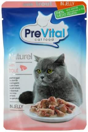Влажный корм для кошек PreVital Naturel, форель, 28шт, 85г