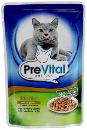 Влажный корм для кошек PreVital Classic, печень, 24шт, 100г