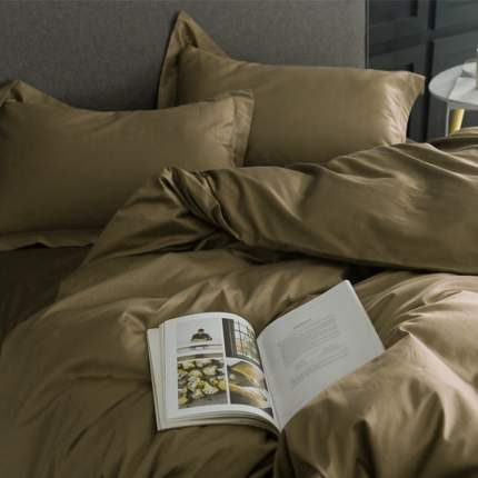 Комплект постельного белья (КПБ, Сатин однотонный) Sparkis Fern (Евро)