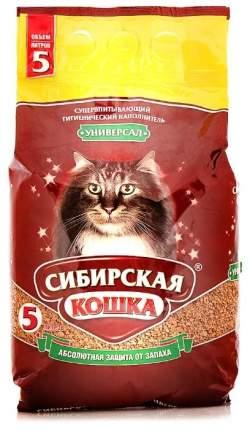 Впитывающий наполнитель для кошек Сибирская кошка Универсал глиняный, 3 кг, 5 л, 4 шт