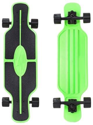 """Детский скейтборд Y-SCOO Longboard Shark TIR 31"""" с сумкой зелено-черный 408-G"""