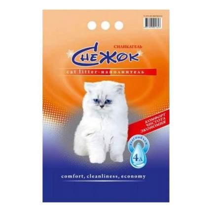 Впитывающий наполнитель для кошек Мурзик Снежок цеолитовый, 2 кг, 4 л, 4 шт