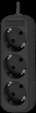 Удлинитель Defender M350, 3 розетки, 5 м, Black