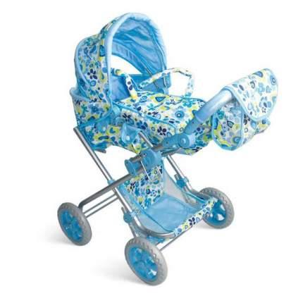 """Четырехколесная коляска для кукол с люлькой """"Премиум"""", голубой 1Toy Т52271"""