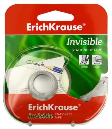 Клейкая лента в диспенсере ErichKrause Invisible, 12ммх20м (в коробке по 24 шт.)