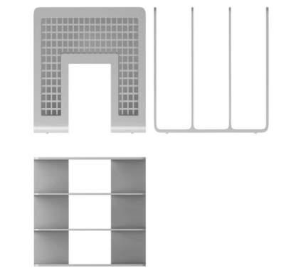 Подставка пластиковая для бумаг ErichKrause Office серый