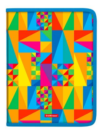 Папка на молнии пластиковая ErichKrause Arlecchino, A4 (в коробке-дисплее по 12 шт.)
