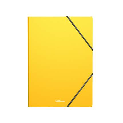 Папка на резинках пластиковая ErichKrause Classic, A4, желтый