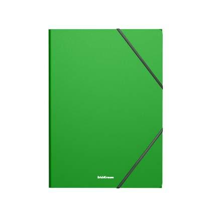 Папка на резинках пластиковая ErichKrause Matt Classic, A4, зеленый (в пакете по 4 шт.)