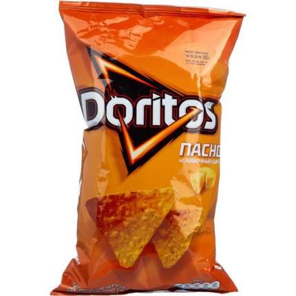 Чипсы кукурузные doritos nacho сливочный сыр 100г