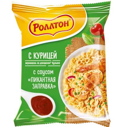 ВЕРМИШЕЛЬ РОЛЛТОН Б/П КУРИЦА С СОУСОМ ПАЧКА 65Г