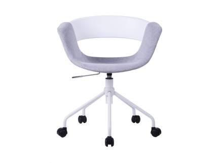 Офисный стул ОГОГО Обстановочка! Swing 7_09r_2, белый/серый/светло-серый