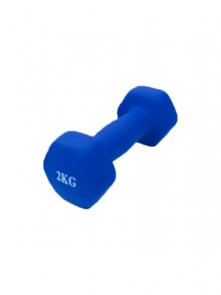Шестиугольная гантель 2 кг, синяя