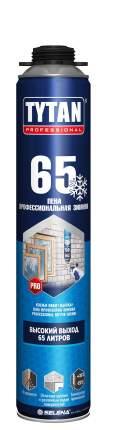 Пена монтажная 65л 750мл профессиональная зимняя (-20) TYTAN 85379