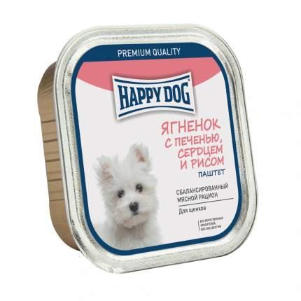 Консервы для собак Happy Dog NaturLine паштет, ягненок, печень, рис, сердце, 125г