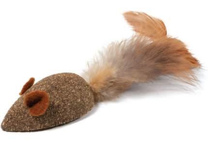 Мягкая игрушка для кошек из кошачьей мяты Triol Мышка с перьями, коричневый