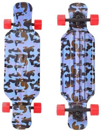 Скейтборд Y-SCOO Longboard Shark Tir 31 с сумкой синий/красный