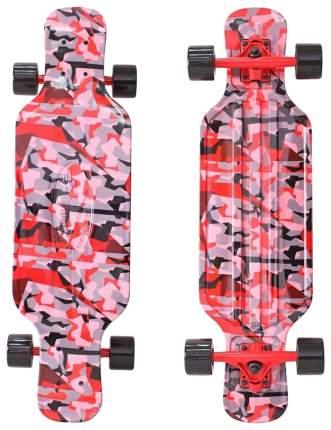 """Детский скейтборд Y-SCOO Longboard Shark TIR 31"""" с сумкой Chaos красно-черный 408-Ch"""