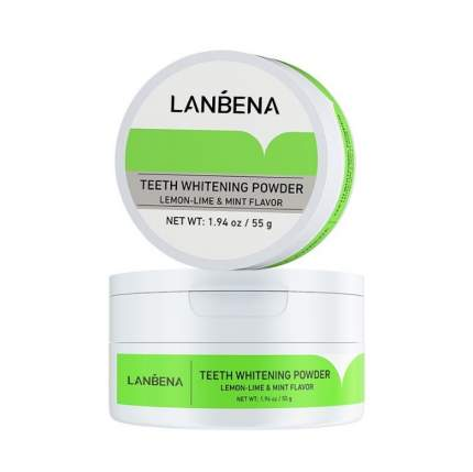 Зубной порошок отбеливающий со вкусом лимона и мяты Lanbena Teeth Whitening Powder