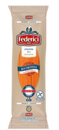 Спагетти Federici № 3 безглютеновые из красной чечевицы 250 г