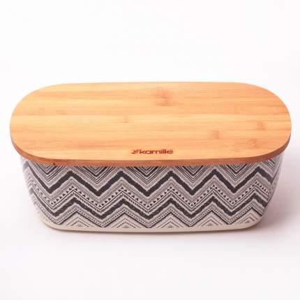 Хлебница из бамбукового волокна 36*20.2*13.5см с бамбуковой крышкой