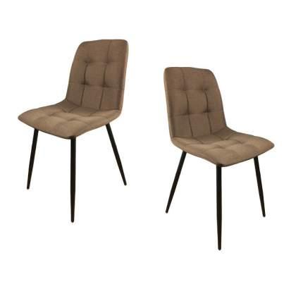 Комплект стульев (2 шт.), СтолБери, Chilli, нано коричневый, металлокаркас чёрный