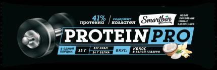 Батончик Smartbar Protein Pro протеиновый кокос 35 г