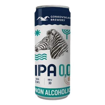 Пиво безалкогольное Горьковская пивоварня India Pale Ale светлое 0,33 л
