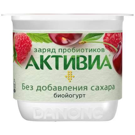 Бзмж биойогурт активиа 2.9% виш/ябл/мал б/с 150г