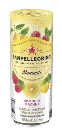 Газированный напиток Sanpellegrino сокосодержащий лимон и малина 0,33 л