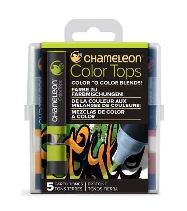 Набор цветовых блендеров Chameleon Color Tops Earth Tones 5 штук