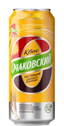 Квас хлебный Очаковский 0,5 л 24 шт