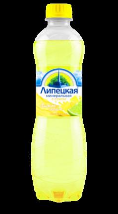 Напиток сокосодержащий Липецкая со вкусом лимона и лайма 1,5 л