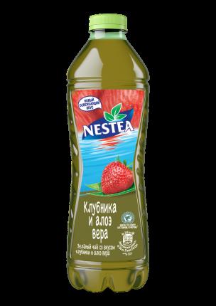 Холодный чай Nestea зеленый клубника и алоэ вера 1,5 л