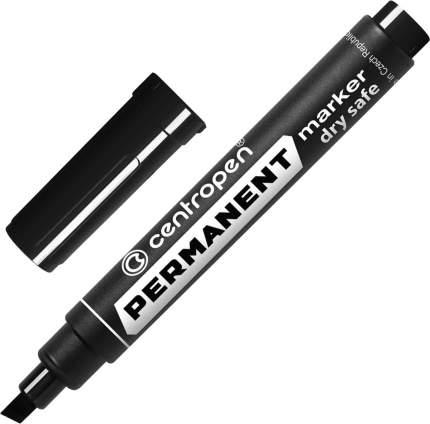 """Маркер перманентный Centropen """"8516"""" черный, скошенный, 2-5мм, устойчив к высыханию"""