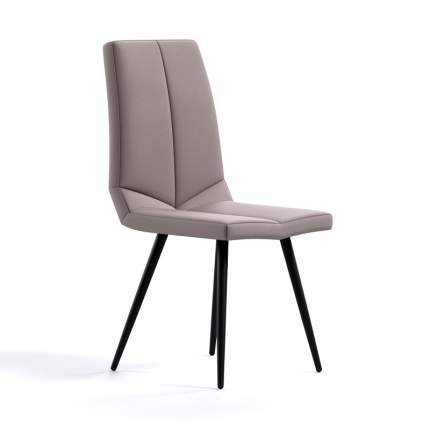 Комплект стульев (4 шт.), СтолБери, Dans, искусственная кожа бежевая, металлокаркас