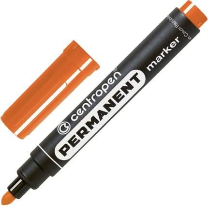 """Маркер перманентный Centropen """"8566"""" оранжевый, пулевидный, 2,5мм"""