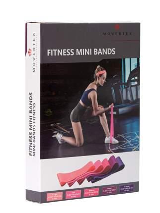 Набор эспандеров Movertex G020 розовый/фиолетовый, 5 шт.