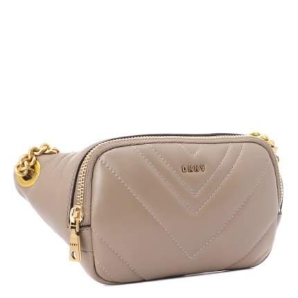 Поясная сумка женская DKNY R94IBF98 бежево-серая