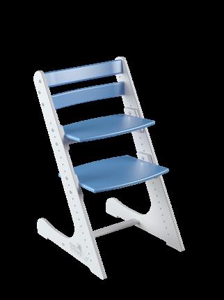 Детский растущий стул Конек Горбунек Комфорт Бело-синий